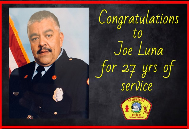Lt. Joe Luna retires after 27 years of service