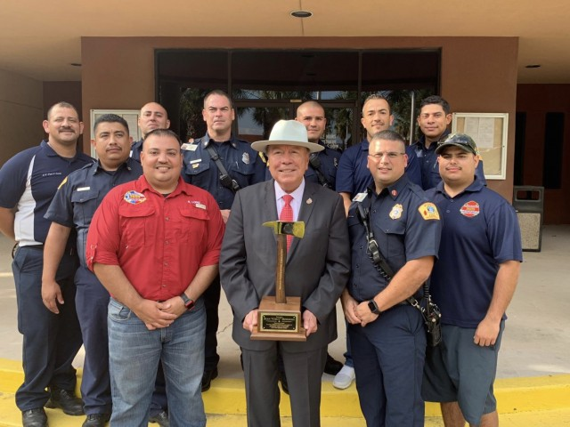 Fire Fighters recognize Legislators at Council meeting