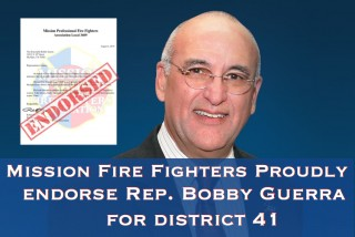 Mission Fire Fighters Endorse Rep. Bobby Guerra