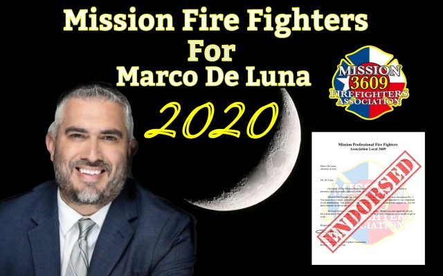 Fire Fighters support and Endorse Marco De Luna