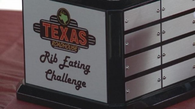 Mission Fire Fighters accept Rib eating challenge